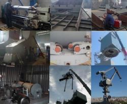 Jib Crane Manufacturing and Implementation-Ship Building and Steel Process