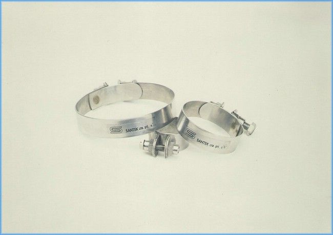 Stainless steel fire hose clamp